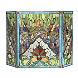 Anisoptera Purity Fireplace Screen from Chloe Lighting, Inc.