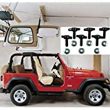 Jeep Hardtop Storage Harken Hoist Jeep Lift with BONUS 6 T Knobs for Quick Hardtop Removal | Safe for One Person Operation | Lifts Evenly with 6:1 Mechanical Advantage | Organize Your Garage