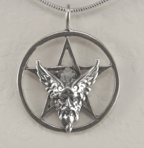 An Impressive Pentacle with Odin in Sterling Silver