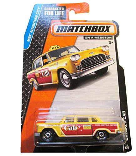 Matchbox - MBX Adventure City 11/120 - Checker Cab