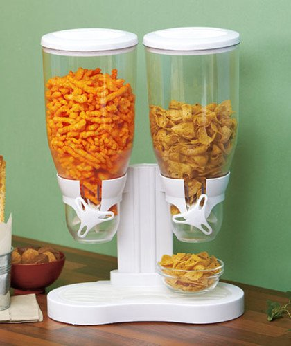 kitchen counter with food. Best Dual Jumbo Food Snack Cereal Kitchen Counter Double Dispenser White Deals : Discount With R