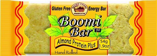 Boomi Bar Almond Protein Plus, Gluten Free Energy Bar, 1.9-Ounce Bars (Pack of 24)