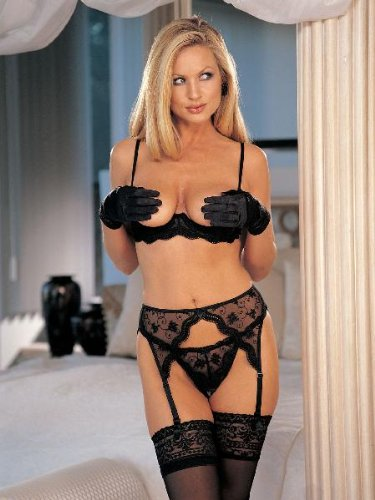 Shirley Of Hollywood Scalloped Garter Belt