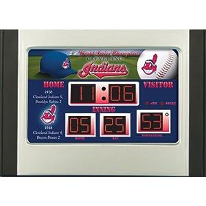 MLB Cleveland Indians Scoreboard Desk Clock by Team Sports America
