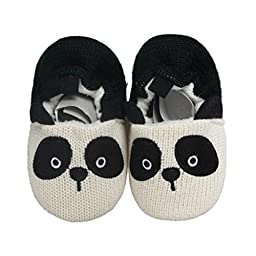 Voberry® Baby Girls Boys Indoor Soft Bottom Non-slip Toddler Panda Shoes 11-13cm (11cm)