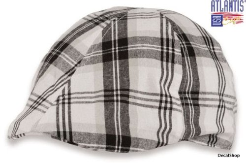 white-black-mirage-tg-unica-57-60-cm-coppola-100-linen-gatsby-trand-unisex-beanie-hat-cap