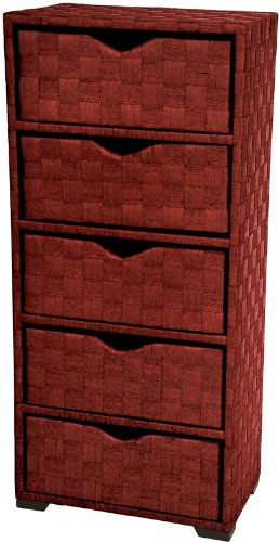 "Discount Priced Best Value Quality Design - 25"" 3 Drawer Woven Fiber Rattan Style End Table Nightstand Cabinet Chest - Honey"