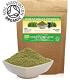 Greens Organic Wheatgrass Powder 250g Superfood (Soil Association Certified Organic)