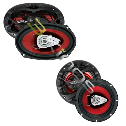 """New Boss Ch6530 6.5"""" + 6X9"""" Ch6920 Speakers Package"""