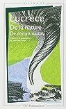 De la nature - de rerum natura