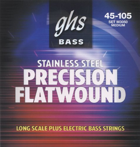 GHS Strings Electric Bass Flatwound Set (Medium