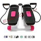 3D Stretchable Health Fitness Stepper Machine Waist Leg Exercise Calories Pink