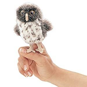 Folkmanis Mini Spotted Owl Finger Puppet from Folkmanis Puppets