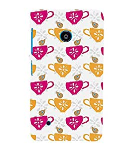 Coffee Cups 3D Hard Polycarbonate Designer Back Case Cover for Nokia Lumia 530 :: Microsoft Lumia 530