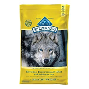 Blue Buffalo Wilderness Healthy Weight Chicken Dry Food for Adult Dogs, 24-Pound