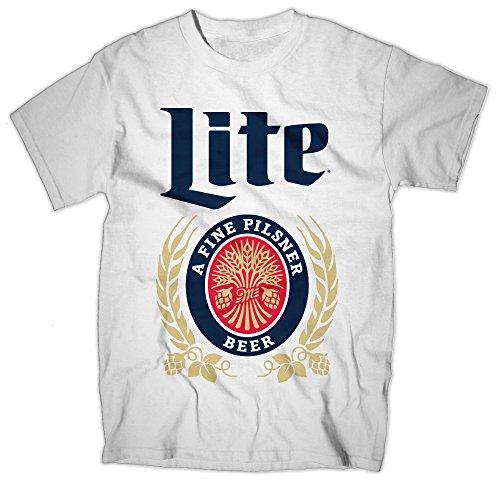 Vintage Miller Lite White T-Shirt-X-Large