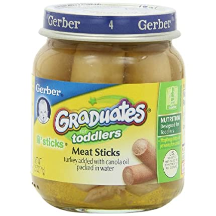 Gerber Graduates Lil' Sticks Meat, 2.5-Ounce Jars ...