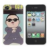 Gangnam Stil Muster Kunststoff zurück Schutzhülle Case für iPhone 4 4S.