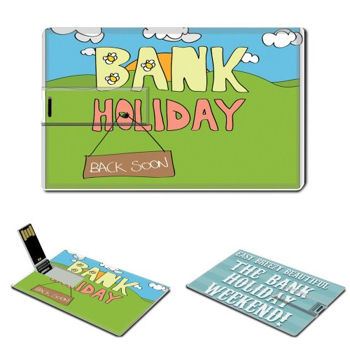 16GB USB Flash Drive USB 2 0 Memory BANK HOLIDAY Festival Credit Card Size Customized Support Services Ready Public Holiday United Kingdom Holiday Of England Free Banking 2013 Bank Holidays In The Uk Rest Calendar Of National Holidays Easter Uk Ireland