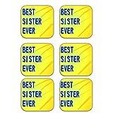 MeSleep Best Sister Wooden Coaster-Set Of 6