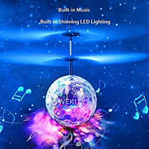 [Speed Running]RC Toy,WEKITY Mini Flying Ball,RC Drone Helicopter Ball with LED Shinning Flashing Lighting Built in Disco Music for Kids, Teenagers from Wekity