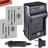 BM Premium 2-Pack of NB-4L Batteries & Battery Charger Kit for Canon Vixia mini PowerShot Elph 100 HS, Elph 300 HS, Elph 310 HS, SD 30, SD 40, SD 200, SD300, SD400, SD430, SD450, SD600, SD630, SD750, SD780, SD960, SD1000, SD1100 IS, SD1400 IS, TX1 Digital Cameras