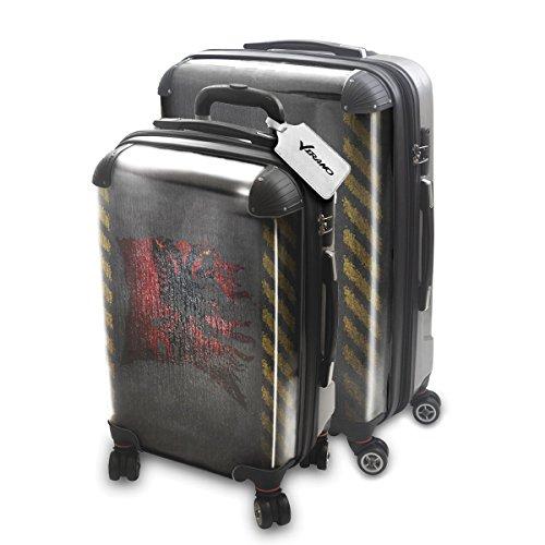 Drapeau Déchiré Albanie, 2 pièce Set Luggage Bagage Trolley de Voyage Rigide 360 degree 4 Roues Valise avec Echangeable Design Coloré. Grandeur: Adapté à la Cabine S, L