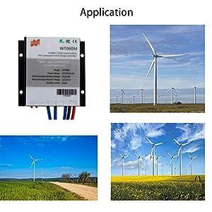 Marsrock IP67 0-600W MPPT Mini Home Windmill Controller Wind Turbine Generator Controller 12V/24V Auto Suitable for DC and AC Wind Windmill Turbine
