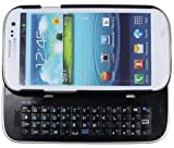 FlyStone® Samsung Galaxy S3 Multifunction Bluetooth Keyboard Case Sliding Function + Standing Function + Backlight Function + 12 Button Specially Designed for Samsung Galaxy i9300 S3 SIII (Black)