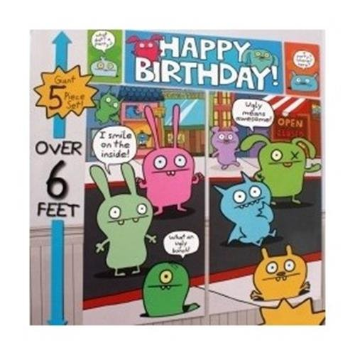 Ugly Dolls Scene Setter Wall Decorating Kit 5 Piece, Kids Party Supplies/Ideas