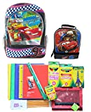 Disney Cars Lightning McQueen Backpack Lunchbox School Supply set