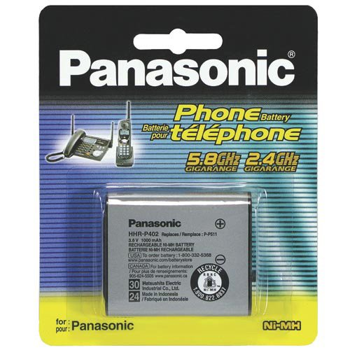 Panasonic HHR-P402 Cordless Phone Battery (Replaces P-P511) Type 30/Type 24 For Panasonic KX-TG2205, G2215, TG2217, TG2227, TG2237, TG2247, TG2257, TG2267, TG2287, TG2700S, TG2700, TG2720S and more (Panasonic Hhr P402 compare prices)