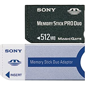 Sony 512 MB Memory Stick PRO Duo Flash Memory Card MSXM-512S