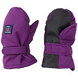 POLARN O. PYRET VELCRO CUFF PUFFER MITTEN (BABY) - 6-12 months/Grape Royale