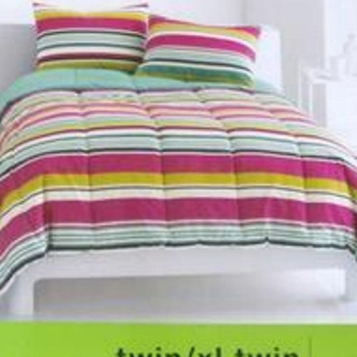 College Dorm Twin Xl Bed Comforter Reversible With Colorful Stripes front-1002160
