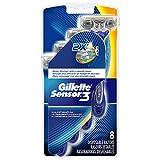 Gillette Sensor3 Smooth Shave Disposable Razor 8 Count