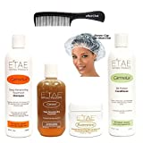 Natural Hair Kit including eHairClub Hair Tools and Etae Carmel Natural Products (Tamaño: 12 ounces)