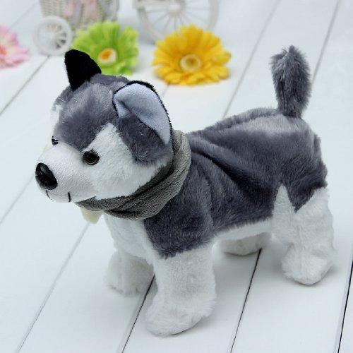 Water & Wood Electronic Singing Dancing Husky Pet Dog Toy Walking Puppy Kids Children Gift