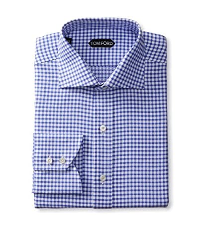 Tom Ford Men's Spread Collar Checked Dress Shirt