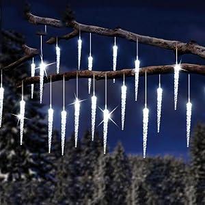 Catena tenda 30 ghiaccioli a led luci blu natale - Catena di luci per esterno ...