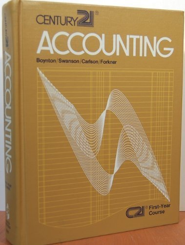 Century 21 accounting;: First-year course