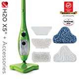 H2O Mop X5 Green Steam Mop + Super Cleaning Kit by Thane Direct