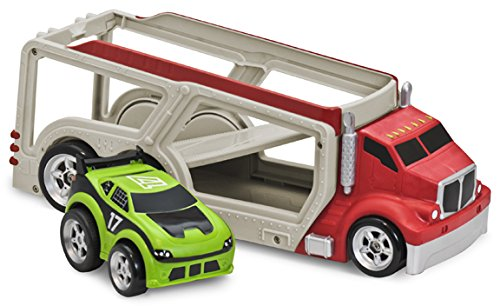 Kid Galaxy Soft and Squeezable Car Carrier with Pull Back Race Car