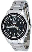 Seiko 5 Black Dial Stainless Steel World Cities Ladies Watch SRP367