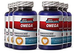 Omega 3 Drops - Omega 8060 - Fish Oil for Weight Loss (6 Bottles, 360 Capsules)