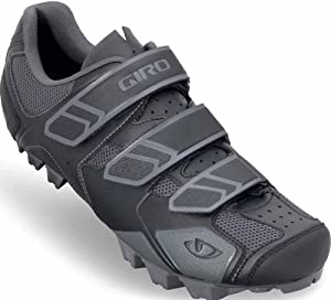 Giro 2012 Mens Carbide Mountain Bike Shoes (Black/Charcoal - 42.5)