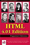 img - for HTML 4.01 Programmer's Reference book / textbook / text book