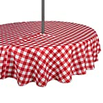 DII Spring & Summer Outdoor Tablecloth, Spill Proof and Waterproof with Zipper and Umbrella Hole, Host Backyard Parties, BBQs, & Family Gatherings - (60