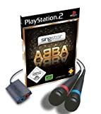 SINGSTAR ABBA WITH 2 WIRED MICROPHONES PS2