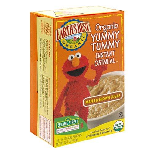 Earth's Best Organic Yummy Tummy Instant Oatmeal